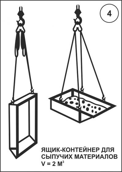 Ящик-контейнер для сыпучих