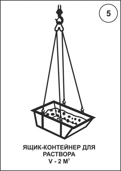 Ящик-контейнер для раствора