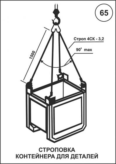 Схема строповки контейнеров в картинках в хорошем качестве